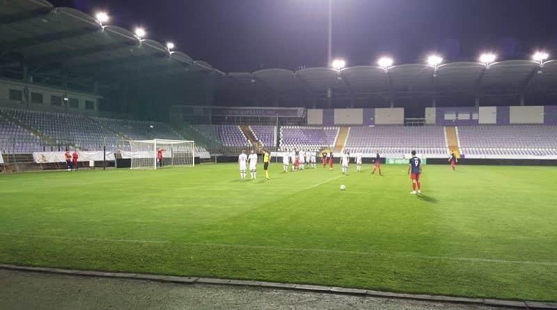 A váci gólszerző, Zsolnai_Richárd (9) a Vác FC-Mol Vidi FC Magyar Kupa találkozón, ami 3-1-es váci vereséggel ért véget
